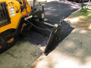 paving a driveway